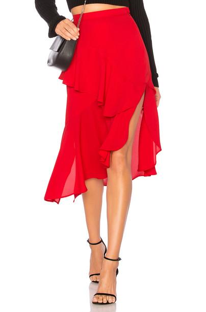 DELFI skirt red