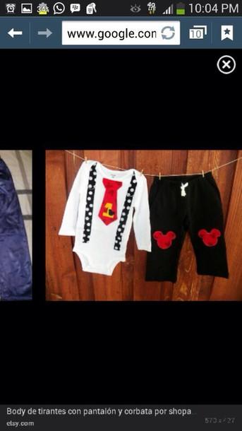 pants mickey mouse kids fashion shirt