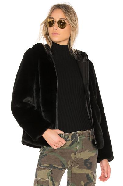 jacket faux fur jacket fur jacket fur faux fur zip black