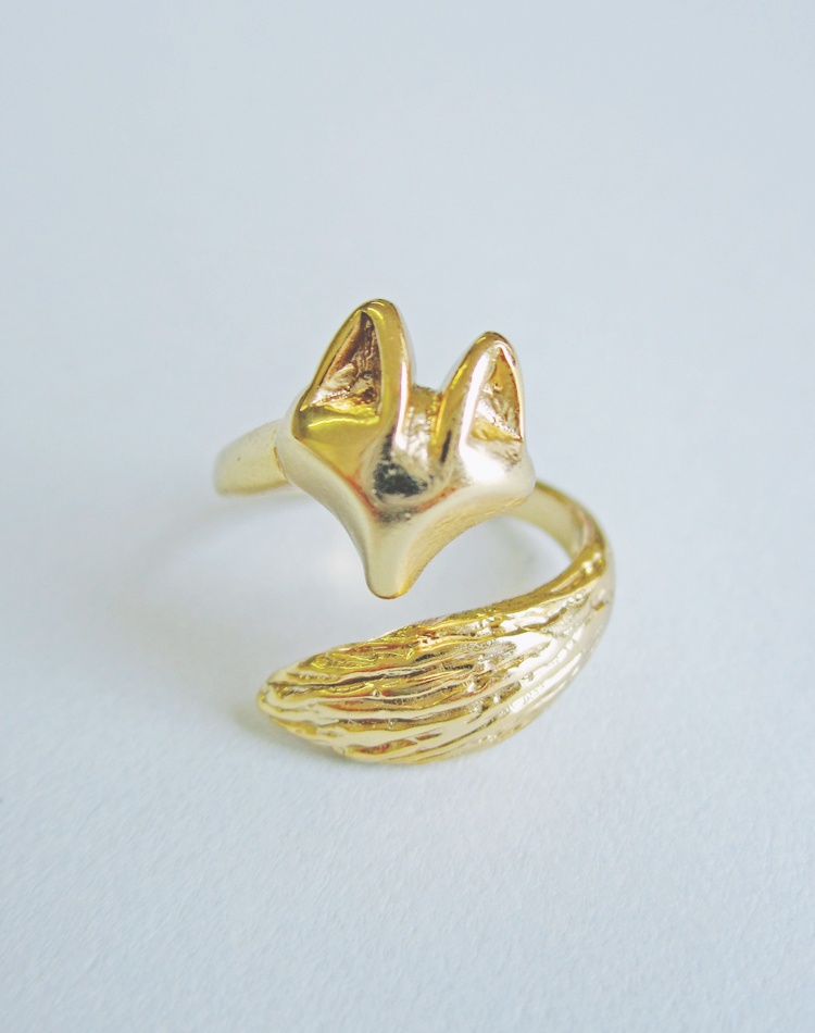 Telling Tails Fox Ring — Eclectic Eccentricity Vintage Jewellery