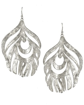 Karina Feather Earrings in Silver - Kendra Scott Jewelry