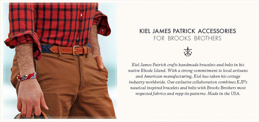 517ea1ad19a5 Kiel James Patrick BB#4 Stripe Wrap Bracelet - Brooks Brothers