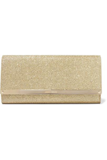 Jimmy Choo clutch gold bag