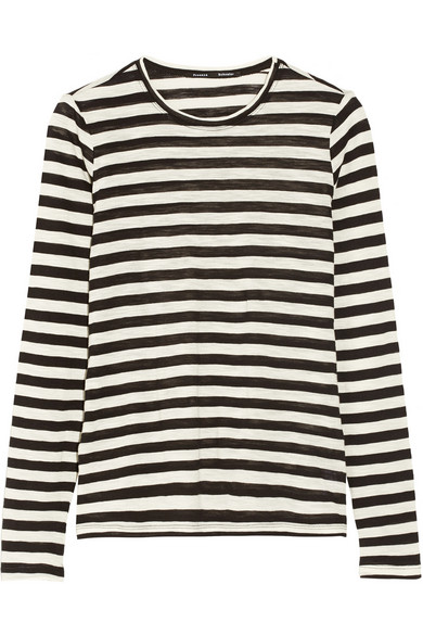 Proenza Schouler | Striped slub-cotton jersey top | NET-A-PORTER.COM