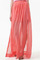 Layered split side coral chiffon maxi skirt, the latest street fashion