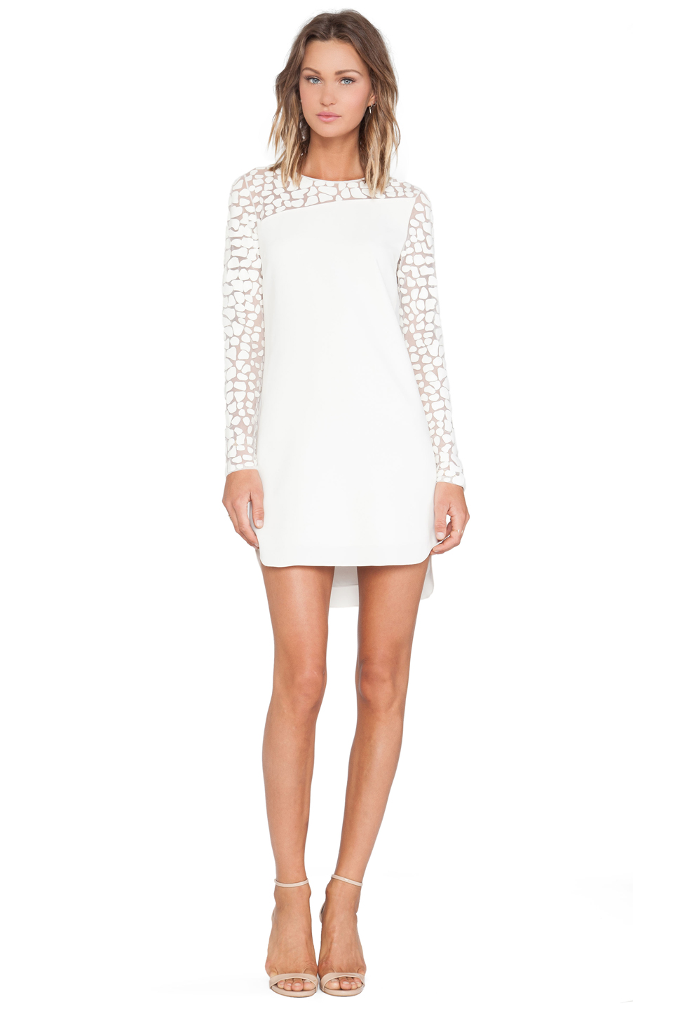 Sachin   babi illusion dress in ivory from revolveclothing.com