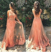 dress,coral