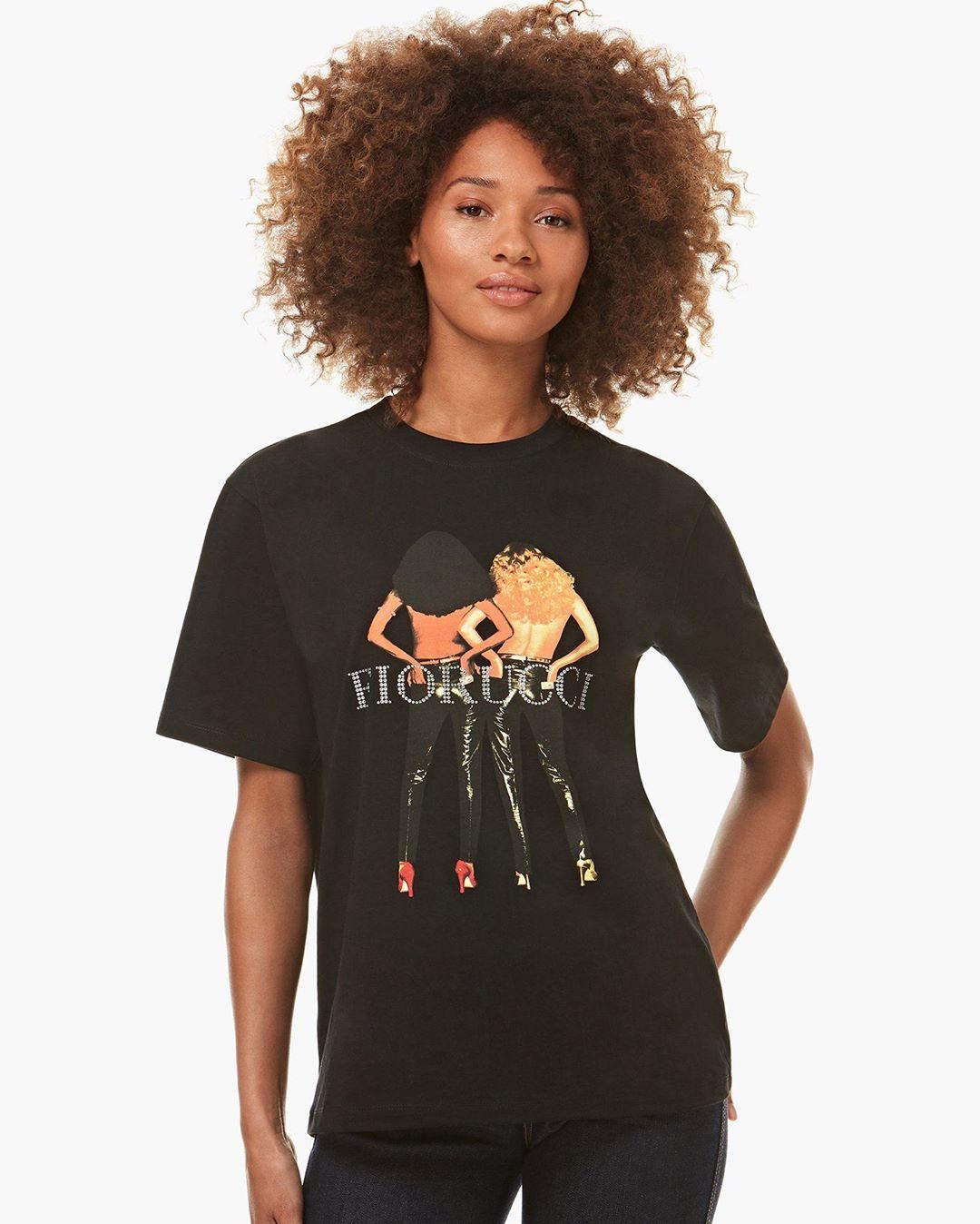 Diamond Vinyl Girls T-shirt Black