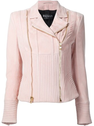jacket biker jacket purple pink