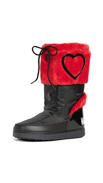 love ankle boots red shoes
