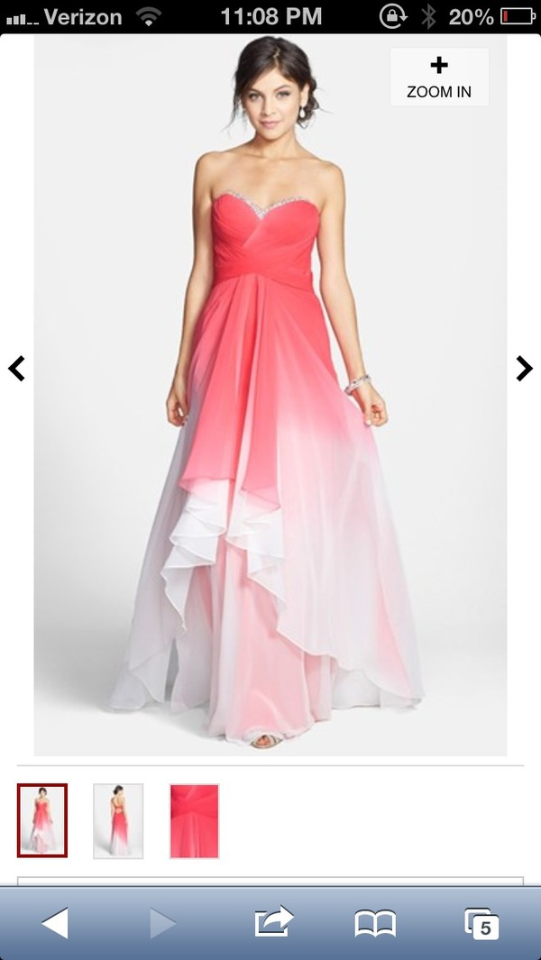 dress prom dress pink dress white dress strapless prom dress