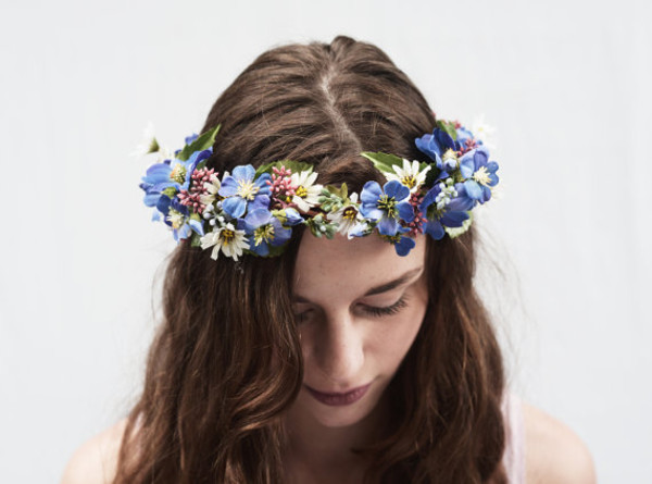 hair accessory flower crown hair flower flower headband hippie flowers flower crown blue summer outfits summer outfits boho hair accessory