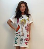 t-shirt,moschino,dress