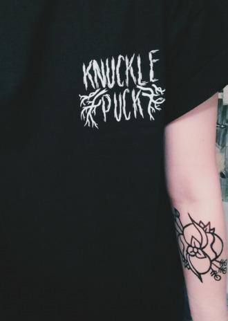 t-shirt knuckle puck la dispute punk pop merch tee band writing band t-shirt