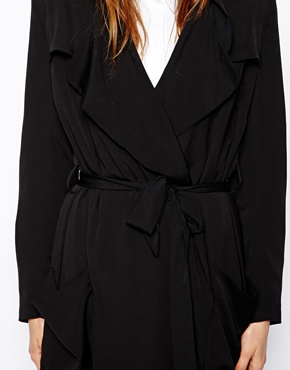 ASOS | ASOS Lightweight Drape Trench in Soft Crepe at ASOS