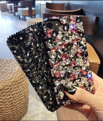 phone cover cover diamonds iphone 7 iphone case jewels jewelery newcrystalwave newcrystalwaveiphonecase