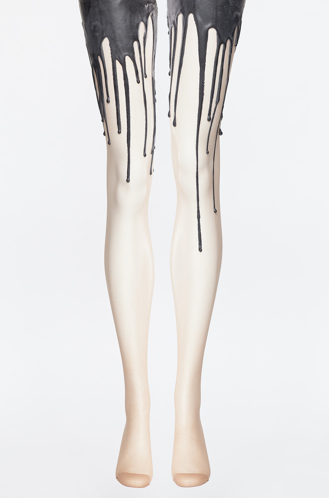 Black melt melting tights