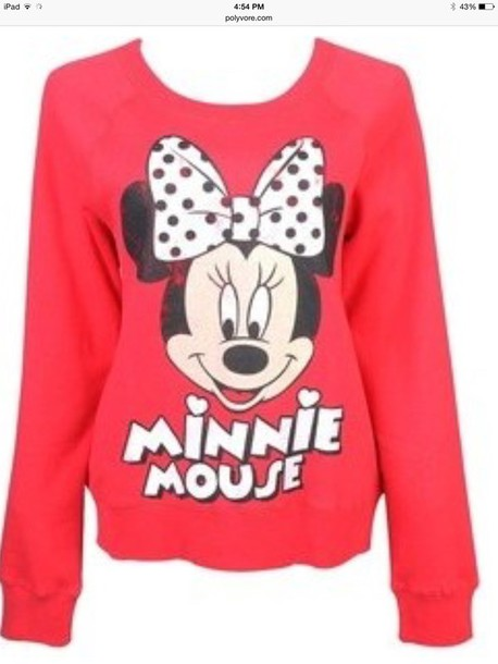 shirt red minnie mouse shirt