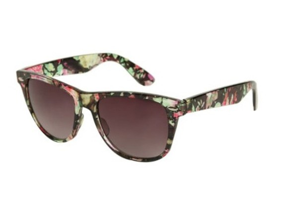 wayfarer sunglasses summer transparent floral sunglasses floral pink flowers green flowers
