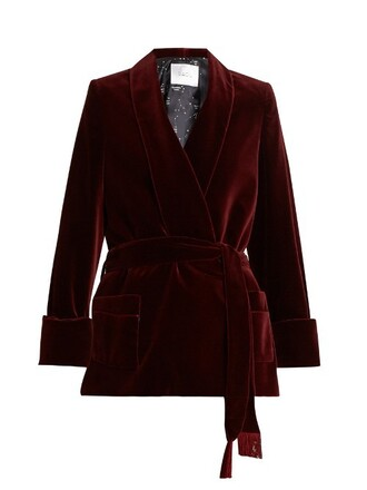 jacket cotton velvet burgundy