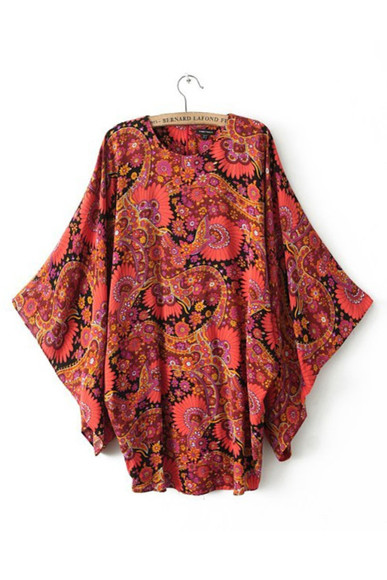 ethnic shirt blouse dress kimono skirt clothes top floral fashion