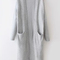 Light grey long sleeve pockets casual cardigan -shein(sheinside)