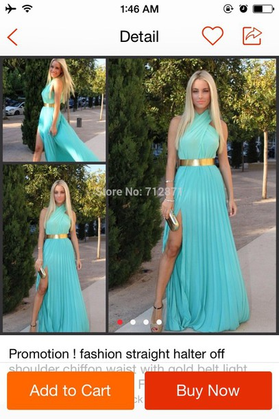dress blue greek goddess