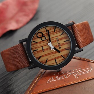 jewels wood fashion brown trendy style cool watch boogzel