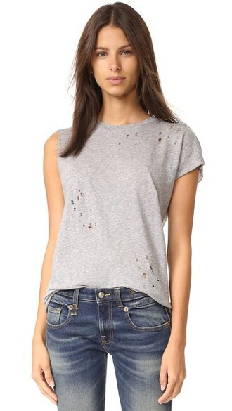 t-shirt shirt grey heather grey top