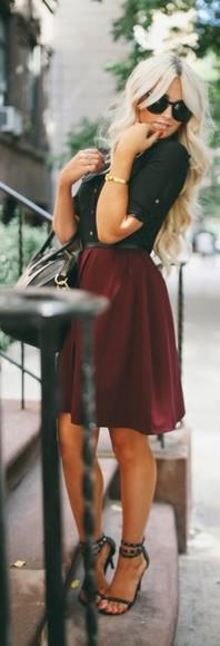 skirt midi skirt maroon/burgundy