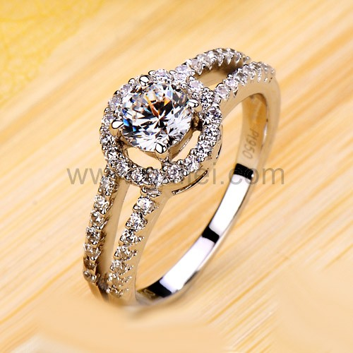 0.5 Carat Diamond Promise Ring for Girlfriend Custom Engraving Personalized Couples Gifts | His Her Necklaces and Bracelets | Engraved Wedding/Engagement/Promise Rings Sets | Matching Clothing