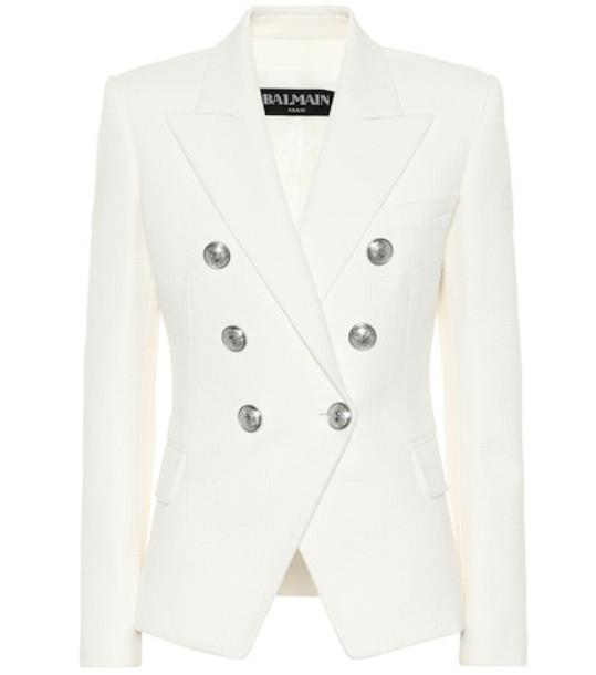 Balmain Cotton blazer in white