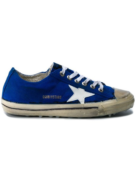 GOLDEN GOOSE DELUXE BRAND women sneakers leather blue suede shoes