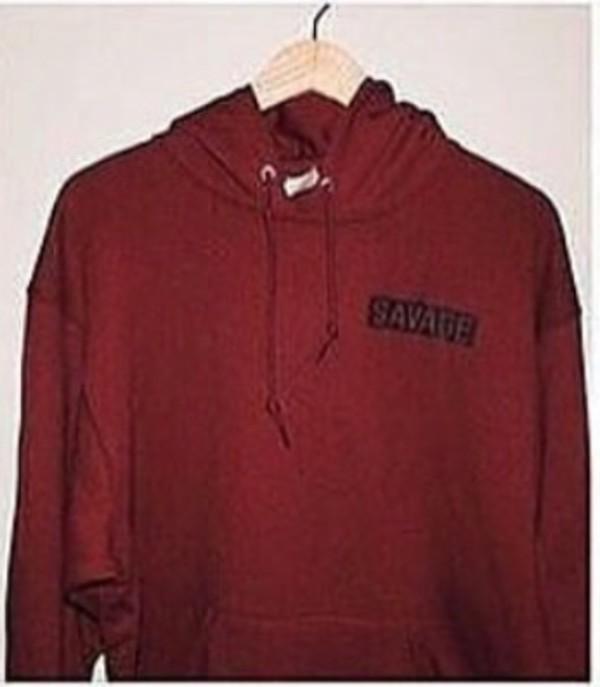 c986ebe8 savage maroon color Hoodies
