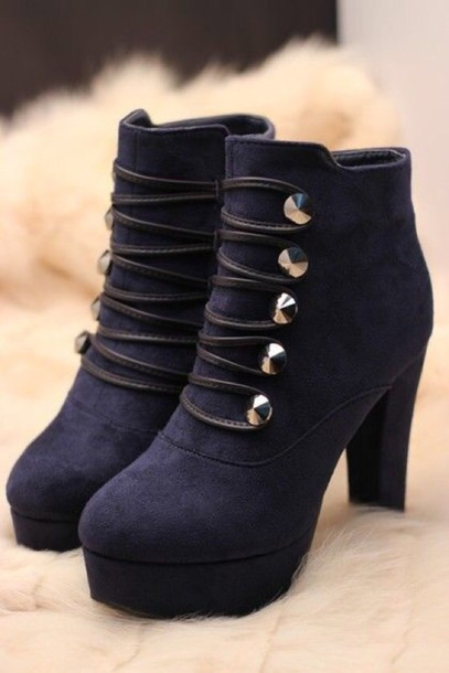 shoes boot shoes girl high heels black winter outfits
