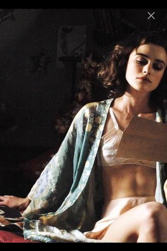cardigan kimono sleepwear lace actress silk keira knightley
