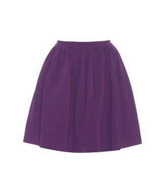 miniskirt purple skirt