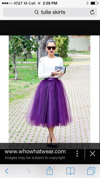 skirt purple tulle skirt