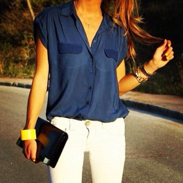 blouse bag jeans jewels