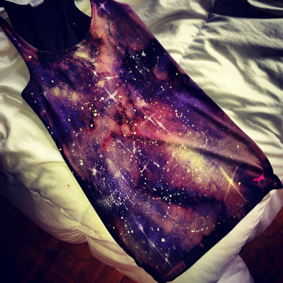 Galaxy shirt galaxy tank galaxy tank top by TenYearsGoneDesigns
