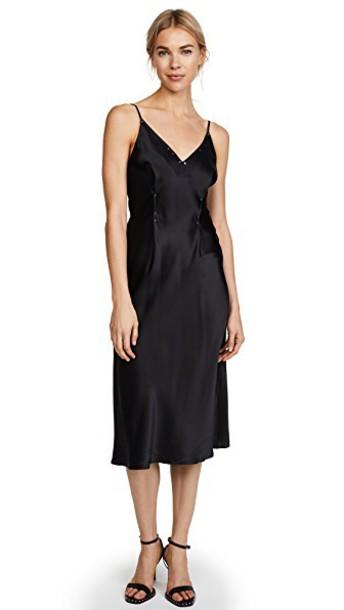 dress silk black