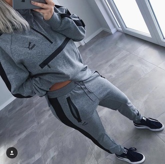 sweater puma swag dope sportswear puma sneakers chill grey sweater tracksuit top