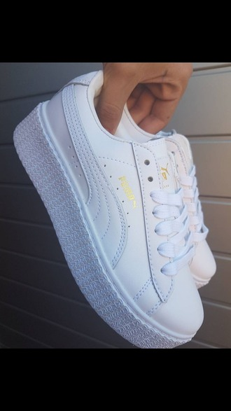 shoes puma creepers puma x rihanna white white puma rihanna creeper gold