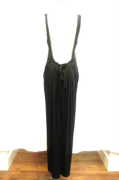 dress backless open back maxi dress