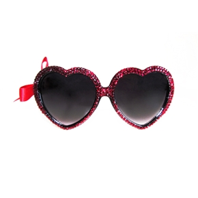 MARIALIA - Ruby Red Swarovski® Heart Sunnies
