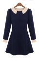 Contrast Beaded Peter Pan Collar Dress - OASAP.com