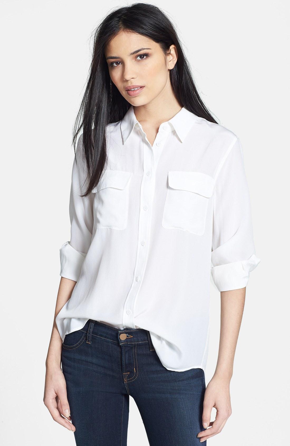 4827b09e96a61 Equipment  Slim Signature  Silk Shirt