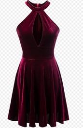 dress,girly,velvet,red velvet dress,burgundy,burgundy dress,cute,cute dress,skater dress,cut-out