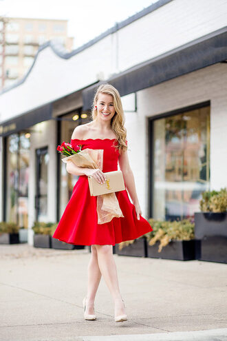 a lonestar state of southern blogger dress jewels pumps red dress scalloped cute dress