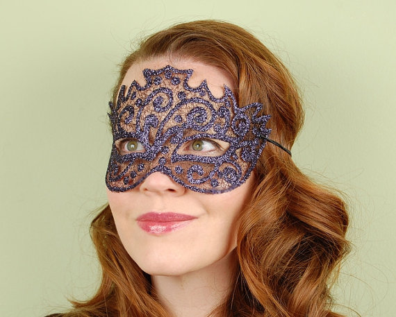 Sheer mask sparkle mesh marcasite black diamond by kmcqdesigns